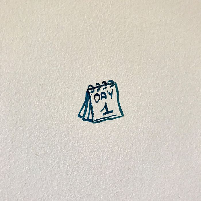 I Challenged Myself To Paint My Wall Every Day For The Whole Lockdown And Here's The Result After 113 Days