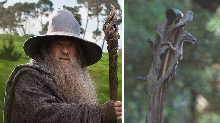 In Lord Of The Rings You Can See That Gandalf Carries His Pipe In His Staff