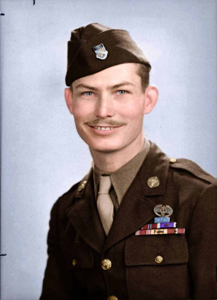 Desmond Doss, Conscientious Objector And Medal Of Honor Recipient. He Was Given The Medal Of Honor For His Actions At Hawksaw Ridge, During The Battle Of Okinawa, Where He Carried 75 Wounded Men To Safety Under Heavy Enemy Fire