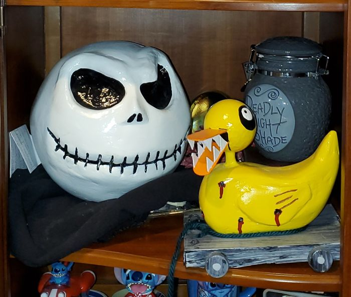 I Sculpted Jack Skellington And The Scary Duck From Nmbc
