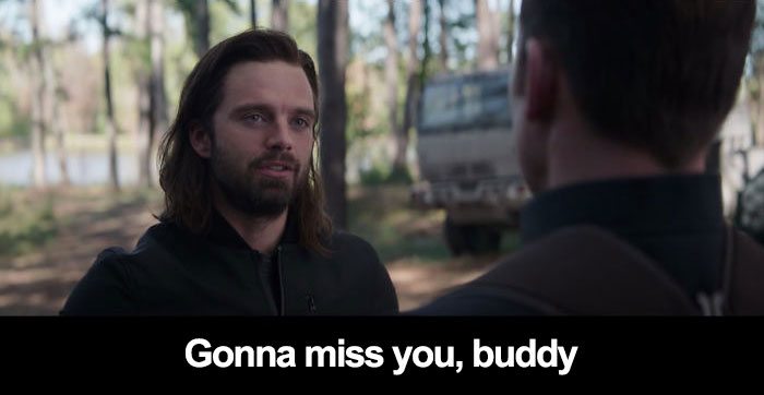 In Avengers: Endgame When Captain America Is Going Off To Return The Stones, The Rest Are Expecting Him To Return. Bucky Says His Goodbye Knowing Steve Is Not Returning To His Timeline, A Testament To Their Friendship!