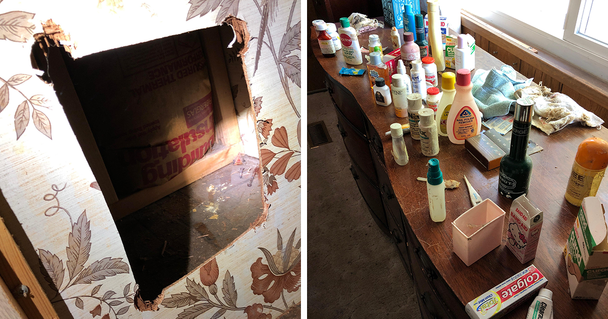 Family Finds Over 30 Products They've Lost Since The '80s Because Of A Well-Hidden Hole In Their Medicine Cabinet