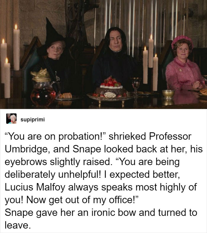 When Snape Snapped Right Back At Umbridge