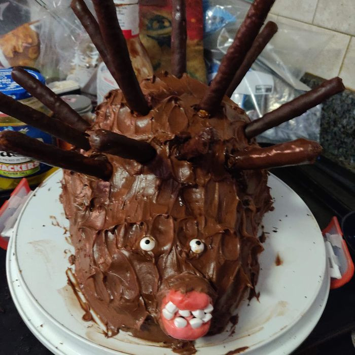 """My Friend Made A """"Hedgehog"""" For Her 14-Year-Old Son's Birthday"""