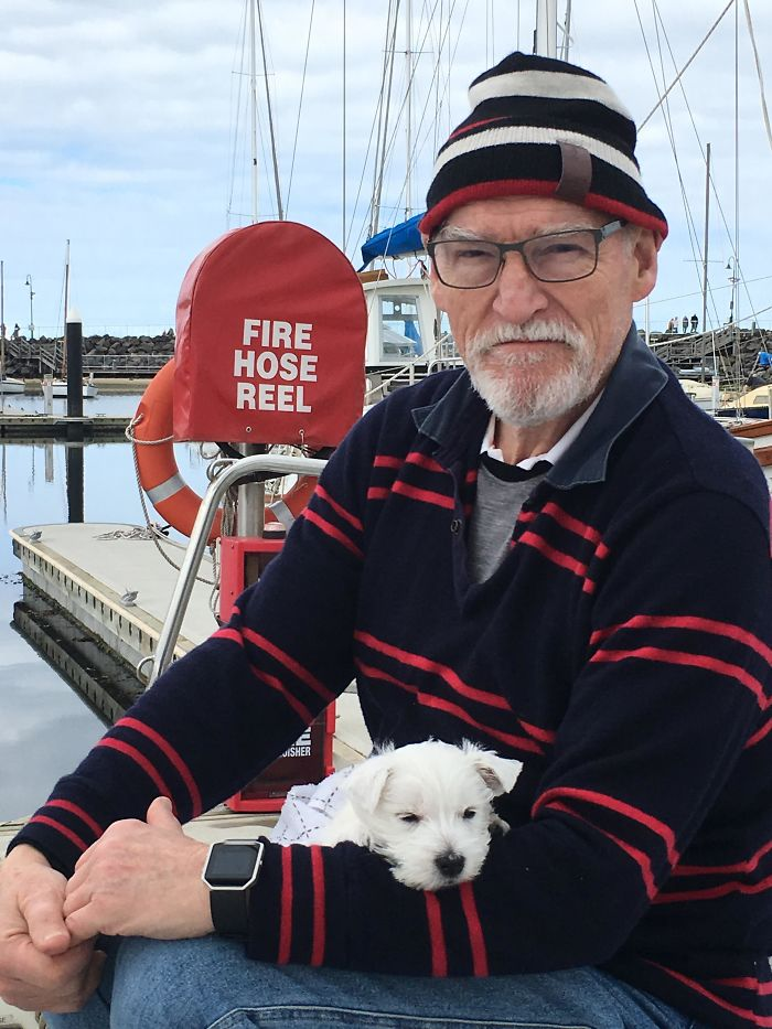 He's Never Been A Dog Person. Ever. And Now My Dad Takes Yuki Sailing And Talks To Her Wherever They Go