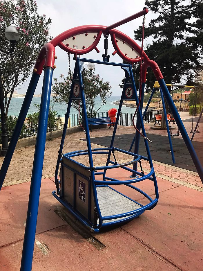 This Park Has A Swing For Wheelchair Users