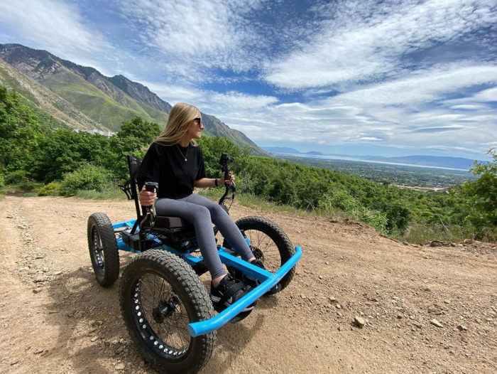 "Zack Nelson Designed An Off-Road ""Wheelchair"" So That His Wife Can Go Places She Never Imagined, It's Now Up For Mass-Production"