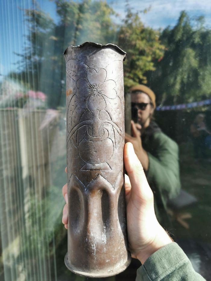My Grandad Dug This Up? Found In Liverpool, Possibly WW2, It Was Found With The Decoration On, What Is It?