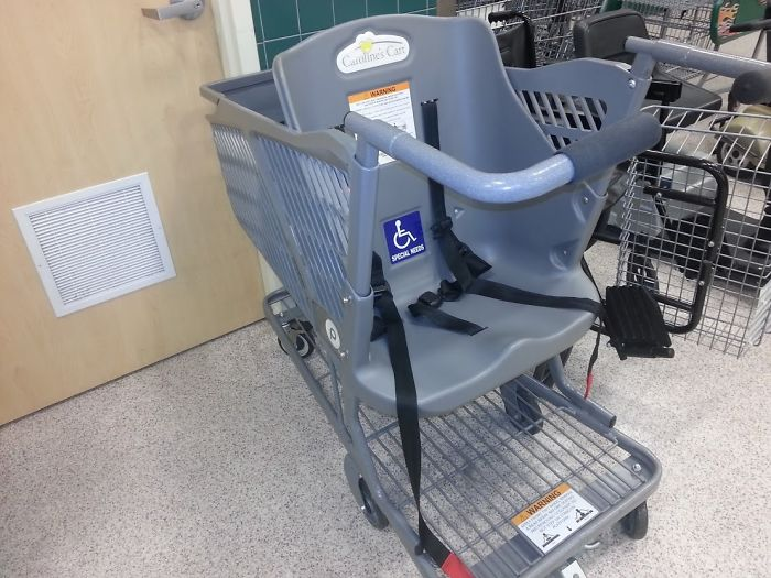 Found At My Local Publix. This Grocery Cart Lets You Push Around Special Needs Adults Instead Of Children