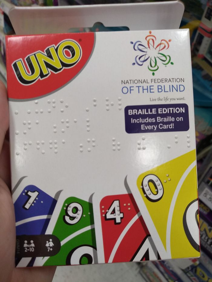 This Braille Edition Of UNO