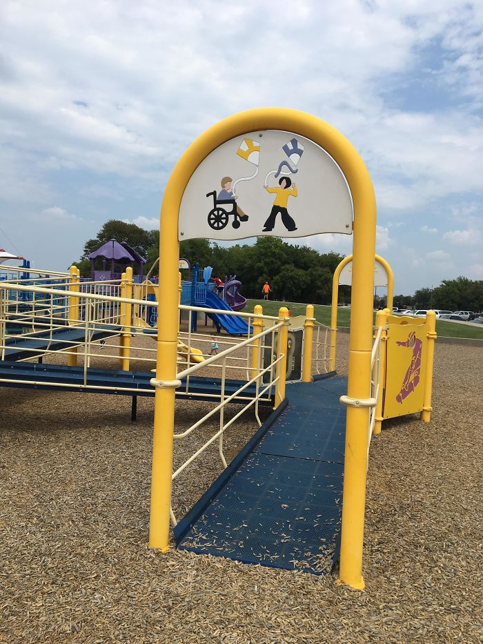 This Park Has Ramps Throughout It So Kids In Wheelchairs Can Play Too
