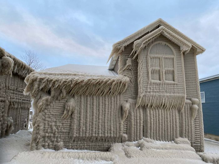 What Happens When 50 Mph Winds, Freezing Temperatures And Lake Erie Hits Your House