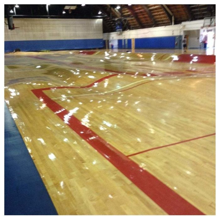 This Is What Happens To A Basketball Court When The Pipes Burst