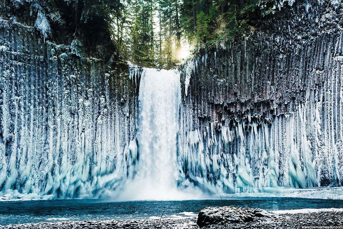 What Happens When The Mist Around A Waterfall Freezes