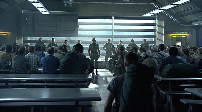 In Avatar (2009), The Evil Imperialists' Room Is Shaped Like An American Flag