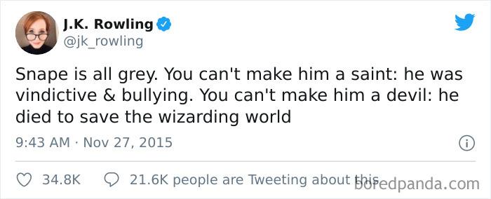 Severus Snape Is Grey