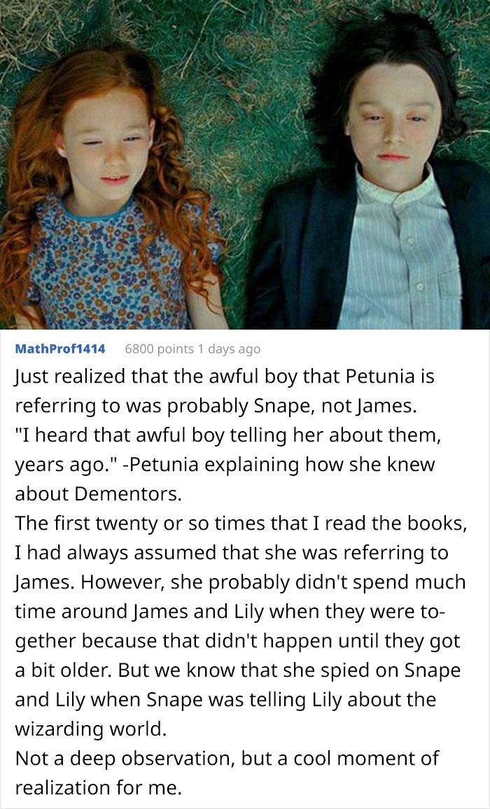 Petunia Probably Knew Snape