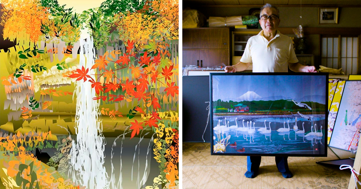 80-Year-Old Retired Japanese Senior Creates Magnificent Paintings With MS Excel