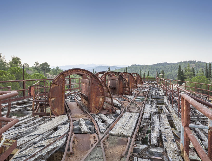 Abandoned Copper Mine Workings, Cyprus