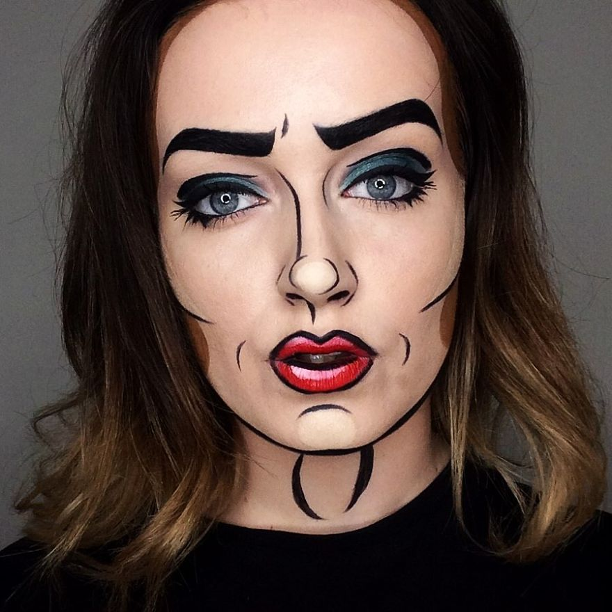 Artist Uses His Face As A Canvas To Paint Our Pop Culture