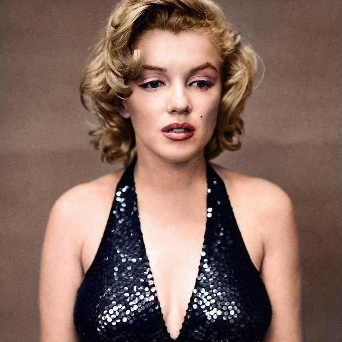 Marilyn Monroe tras una fiesta
