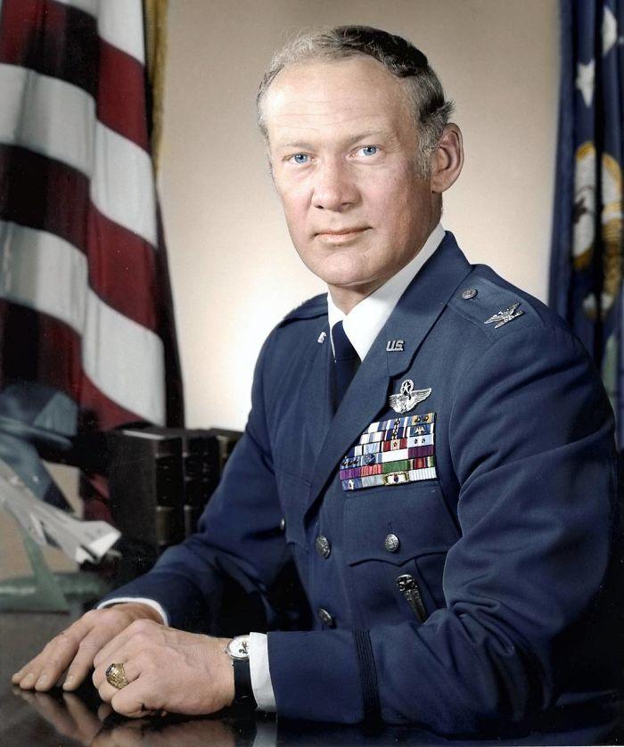 Buzz Aldrin, 2º hombre en la Luna, aquí como Comandante de la fuerza aérea en la escuela de pilotos, 1963 aprox.