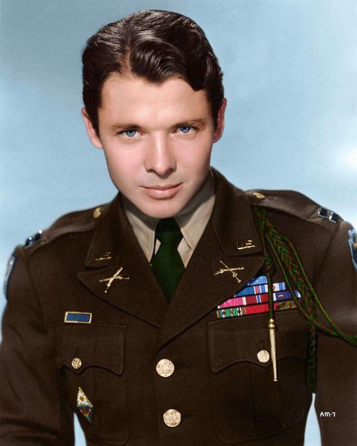 Audie Murphy, uno de los soldados más condecorados en la 2ª Guerra Mundial
