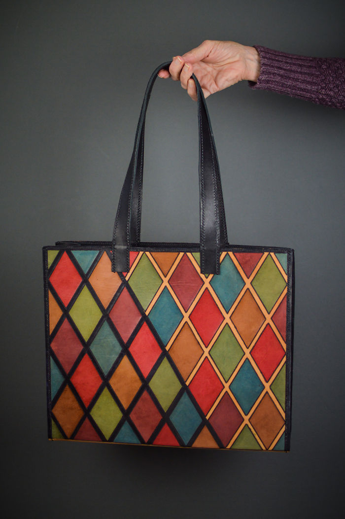 Harlequin Pattern Tote For My Daughter