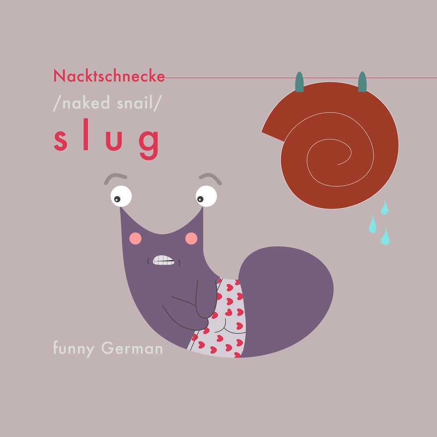 Why Is The Slug Embarrassed? Because It's A Naked Snail!