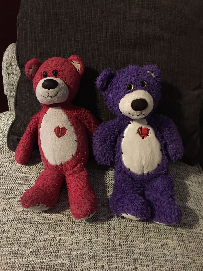 #14 Meet Red Bear And Purple Bear, Give To Me By My Big Sister, Red Bear Has Been With Me For 12 Long Years!