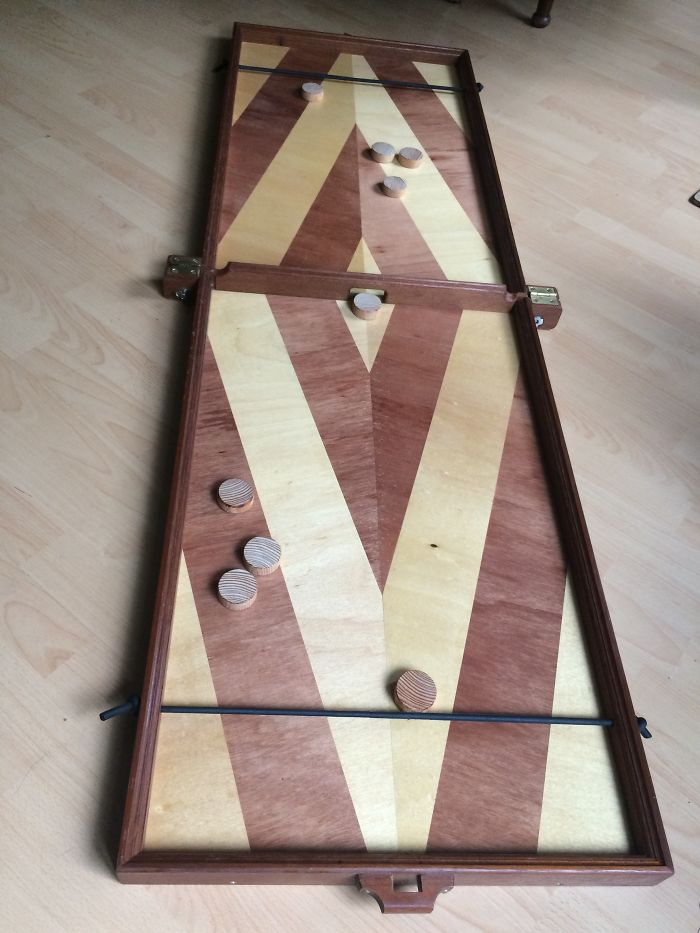 This Foldable Shuffleboard Game- From Wood, From Scratch