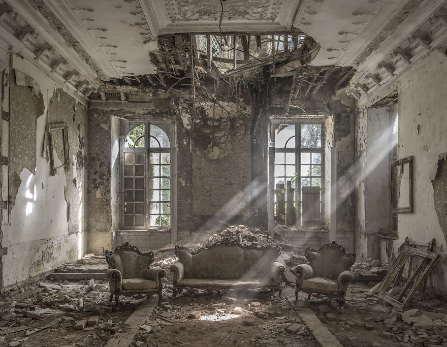 Abandoned Chateau Interior, Belgium