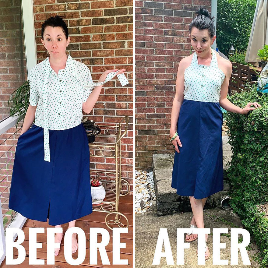 Stylist Uses Creativity To Transform Used Clothes Into Fantastic Looks