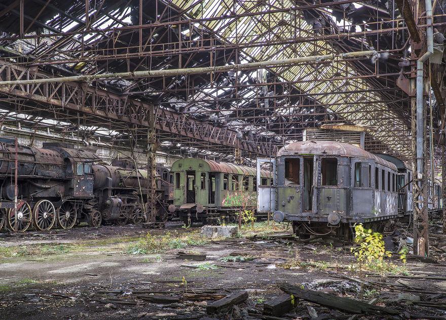 Derelict Train Yard, Hungary