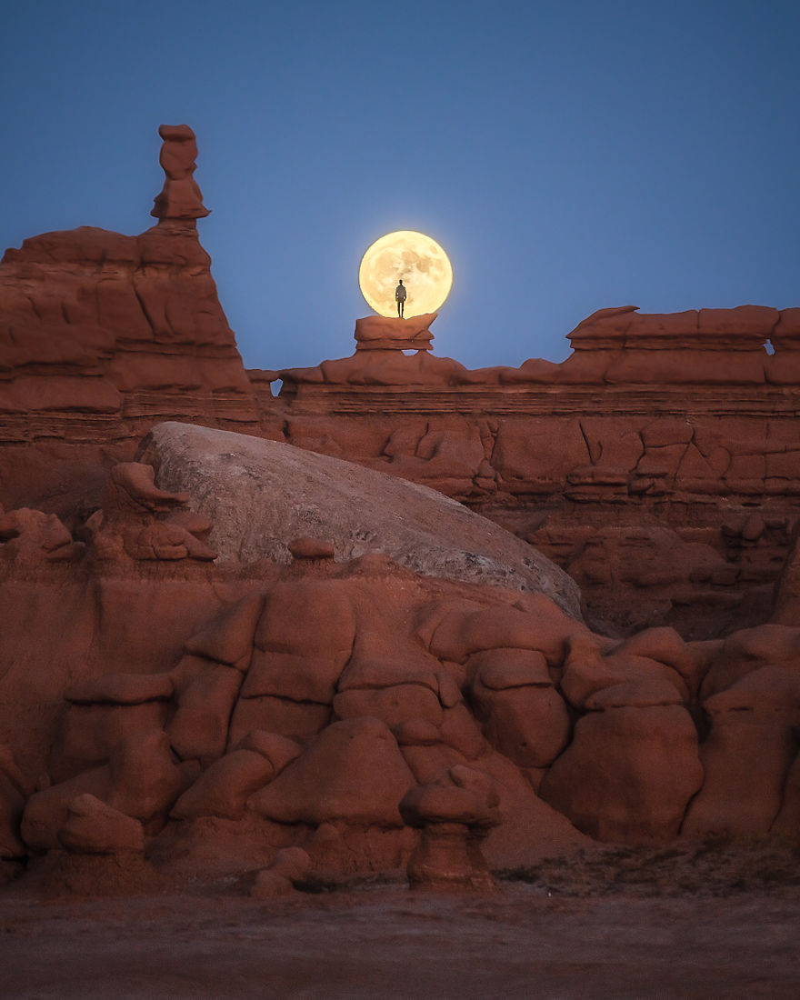 Winner: Surprised By A Full Moon At Goblin Valley