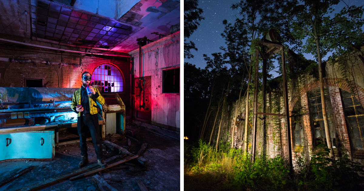 I Camp Alone In Abandoned Places To Photograph Them At Night With A Lot Of Light (17 New Pics)