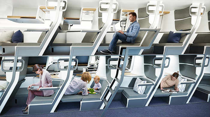 This New Airplane Seat Design Allows Economy Class Passengers To Lie Down