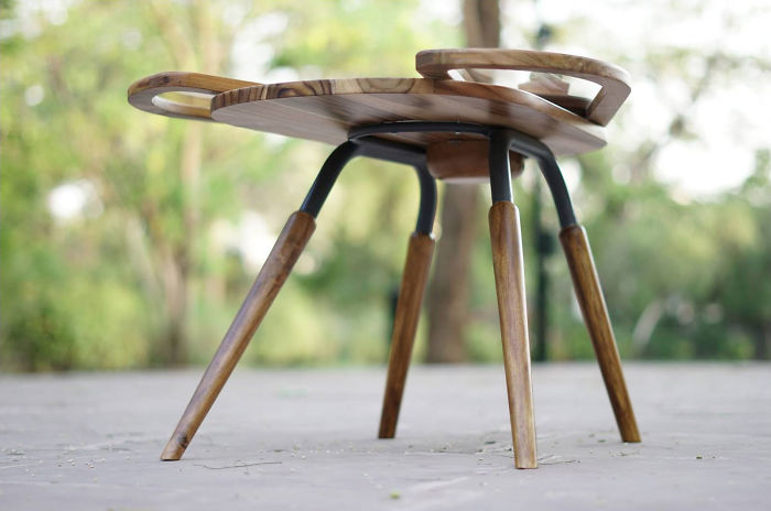 This Unique Table Called 'Elytra' Was Inspired By The Wings Of A Beetle