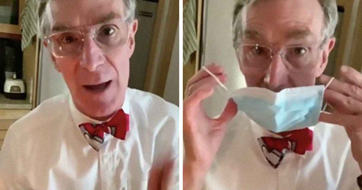 Bill Nye Makes A PSA On TikTok About How Effective Different Face Masks Are, Goes Viral