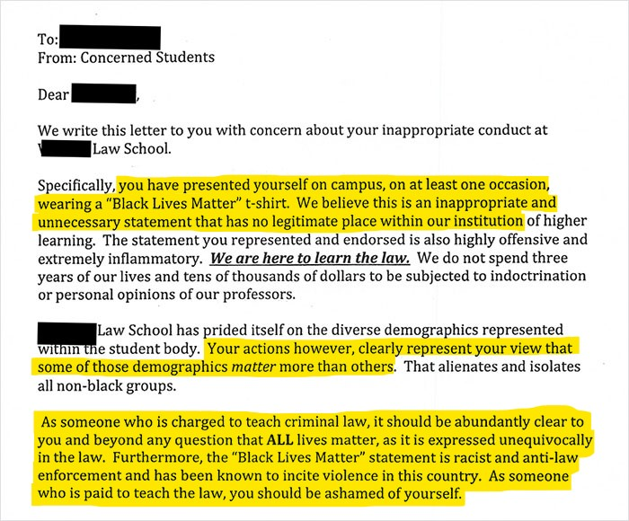 Law Professor Shuts Down 'All Lives Matter' With An Epic Response To Her Racist Students