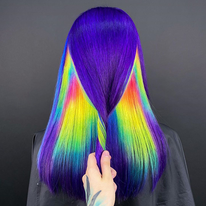 30 Bright Rainbow Colored Hairstyles By Russian Artist Snezhana Vinnichenko Bored Panda