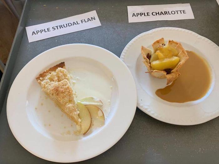 Flan de strudel de manzana y charlota de manzana