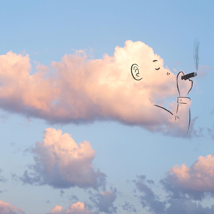 Artist Posts Funny Cloud Doodles On Twitter, People Like Them So Much That They Respond With Their Own Doodles