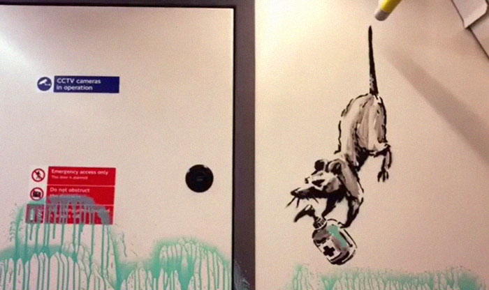 Banksy Sends A Lockdown Message By Spray-Painting The London Underground