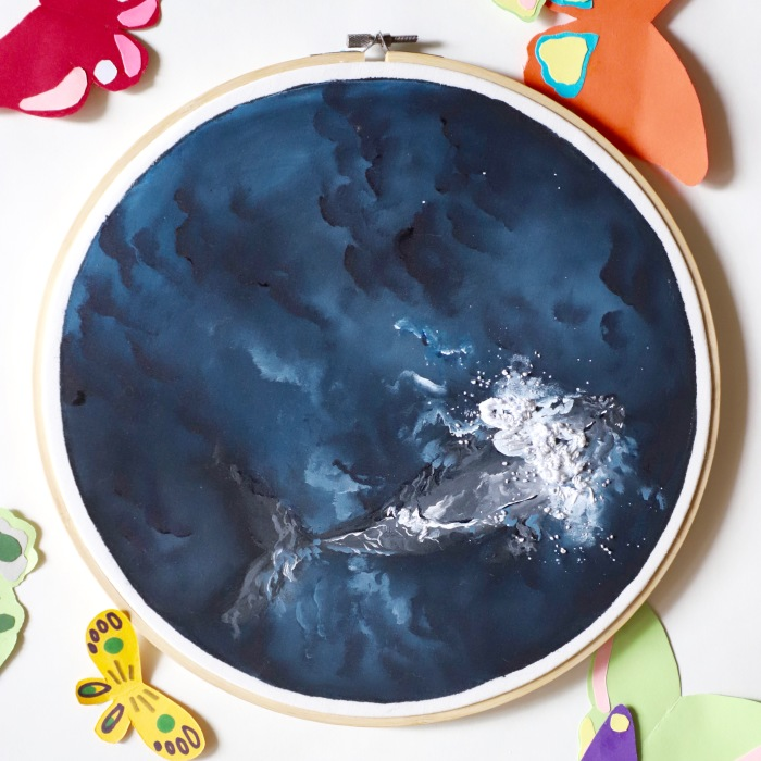 I Combine Sewing With Painting To Create These Landscape Embroideries