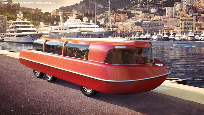 Designers Show How People From The 1900s Thought We Would Be Traveling In 2020 (5 Pics)