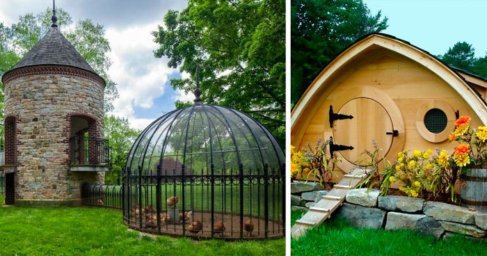 55 Times Creative People Built Amazing Coops For Their Chickens