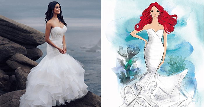 Disney Drops A Line Of Wedding Gowns That Are Based On Everyone's Favorite Princesses (11 Pics)