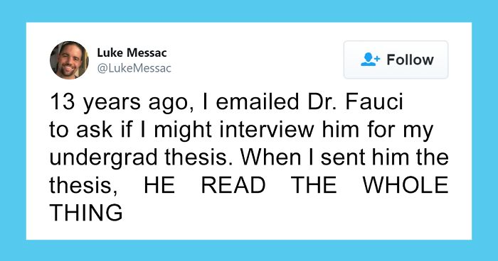 People Are Sharing Positive Stories About Dr. Fauci After Trump's Undeserved Backlash Towards Him