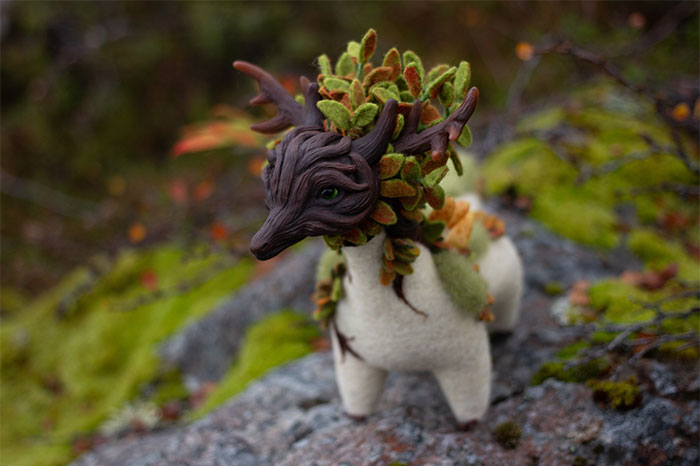 I Make These Adorable Felted Dragons Inspired By The Nature Around Me